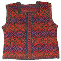 red and purple vest