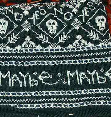 "Bottom of Skully with the word ""Maybe"" which got cut off..."
